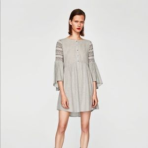ZARA Dress w/ Elastic Sleeves